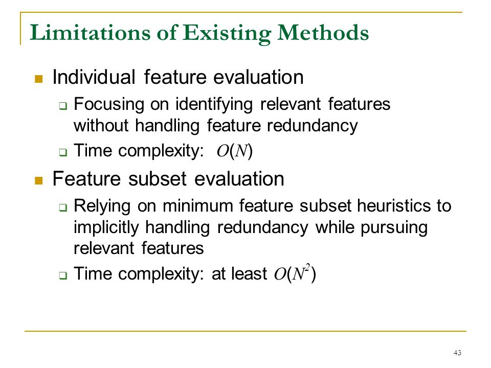 Limitations of Existing Methods