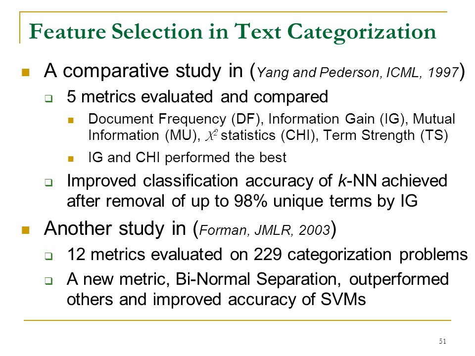 Feature Selection in Text Categorization