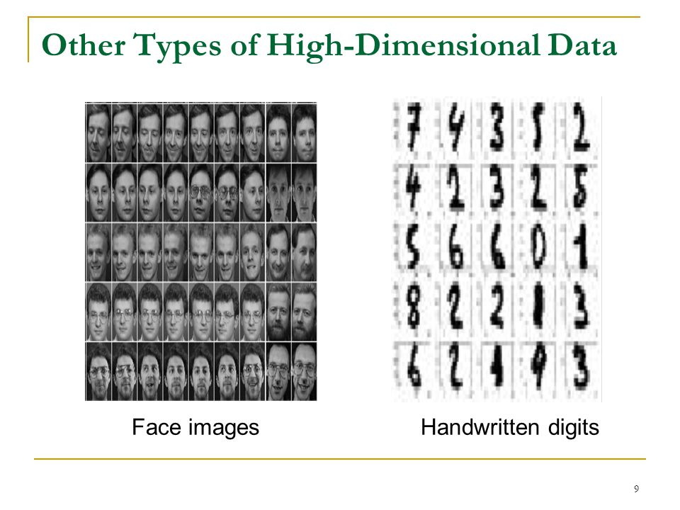 Other Types of High-Dimensional Data