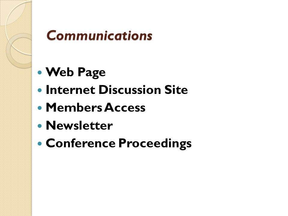 Communications Web Page Internet Discussion Site Members Access