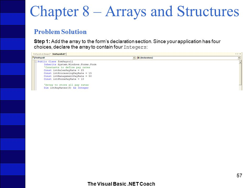 Chapter 8 – Arrays and Structures - ppt download