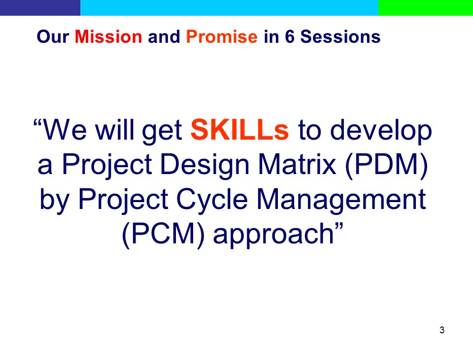 Our Mission and Promise in 6 Sessions