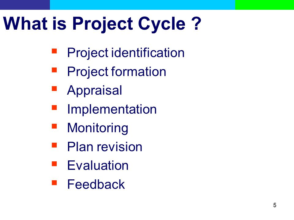 What is Project Cycle Project identification Project formation
