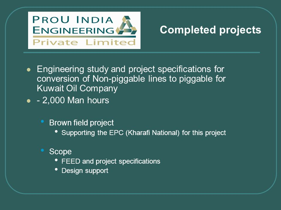 Formerly Manrochem Engineering Private Limited) - ppt video online