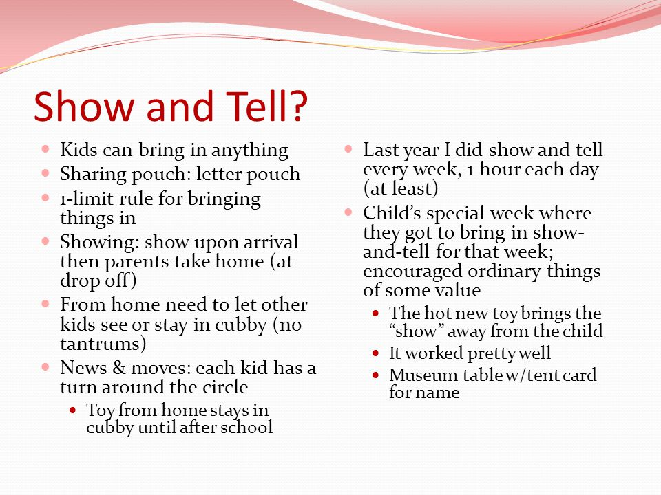 letter o show and tell preschool show and tell letter u the ultimate show and tel 22921 | Show and Tell Kids can bring in anything Sharing pouch%3A letter pouch