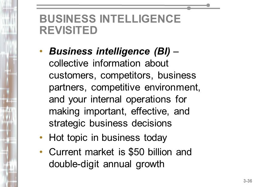 BUSINESS INTELLIGENCE REVISITED