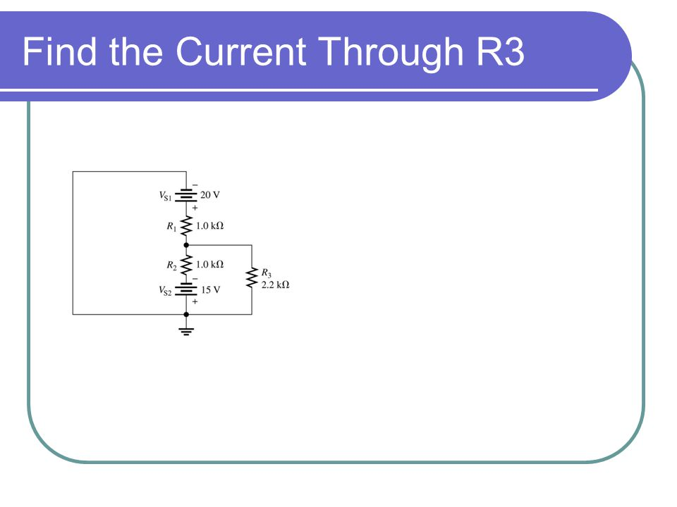 Find the Current Through R3