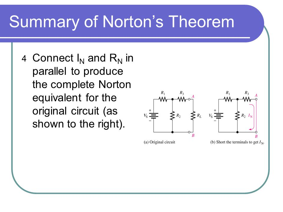 Summary of Norton's Theorem