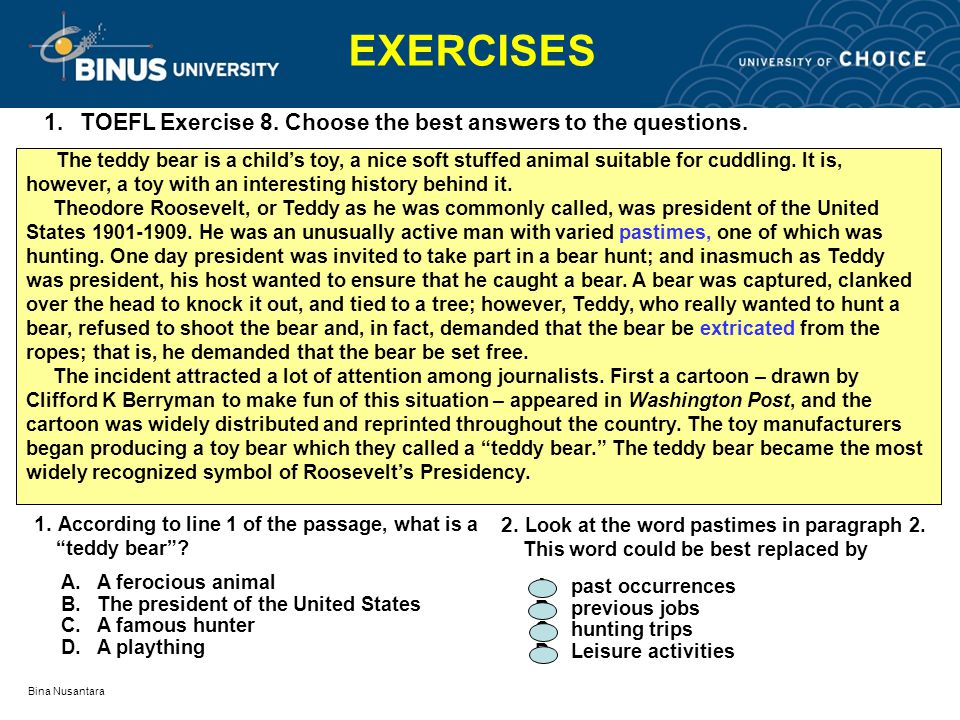 photo regarding Toefl Exercises Printable called Reading through Health and fitness TOEFL (Ongoing) Pertemuan ppt movie