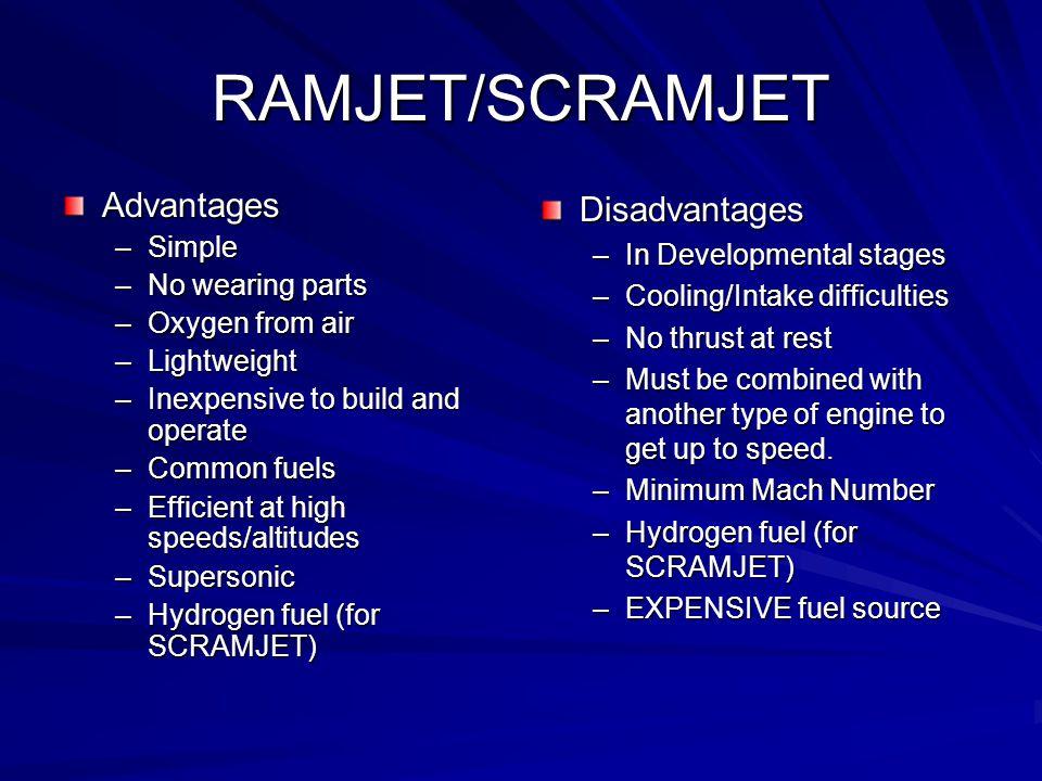 ramjet engine advantages and disadvantages pdf