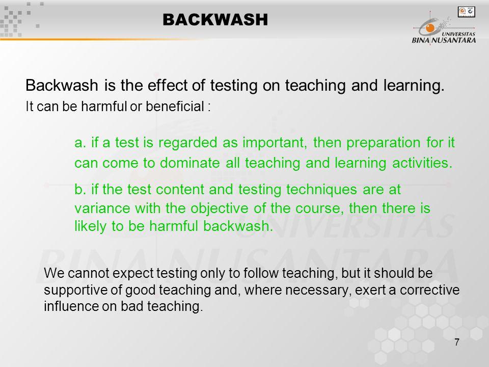 backwash effect