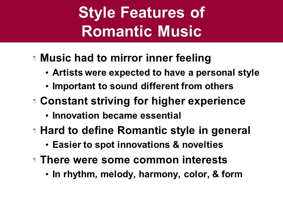 romanticism and music