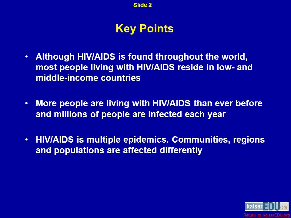Current Global HIV Estimates