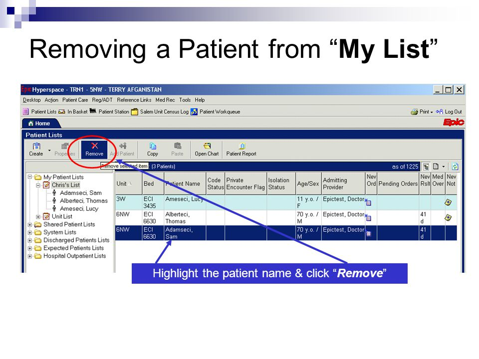 Introduction to the EPIC EMR System at Salem Hospital - ppt