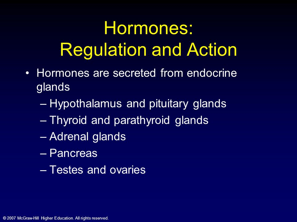Hormones: Regulation and Action