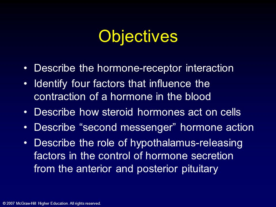 Objectives Describe the hormone-receptor interaction
