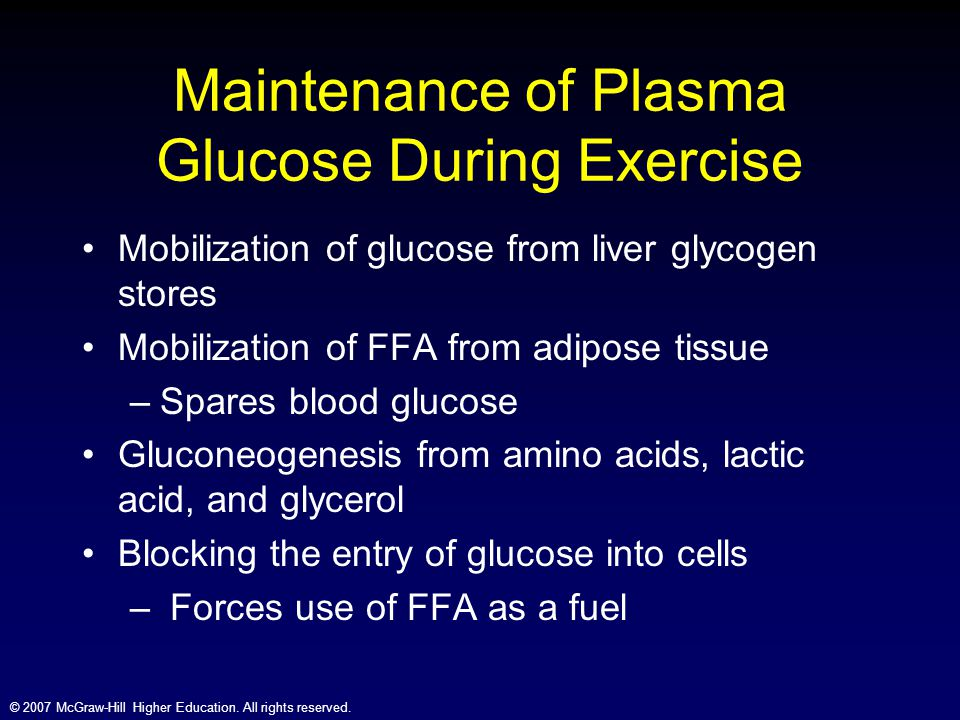 Maintenance of Plasma Glucose During Exercise