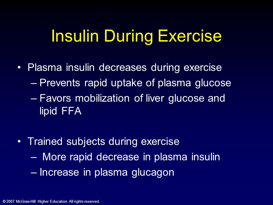 Insulin During Exercise