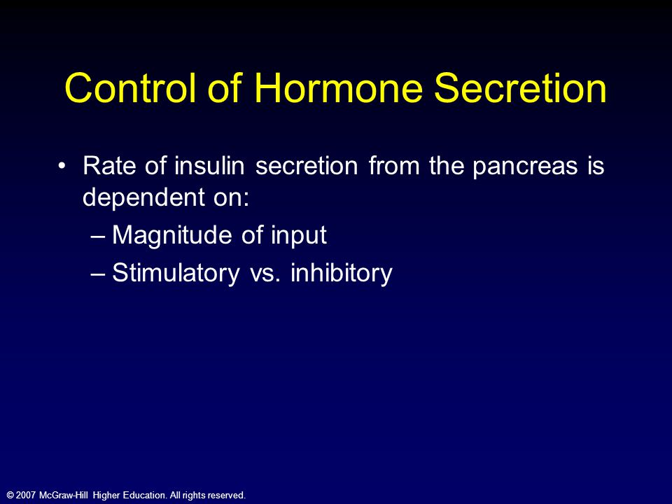 Control of Hormone Secretion