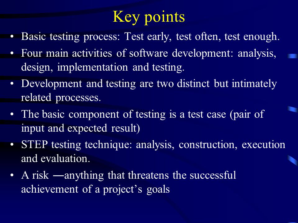 Software Testing And Quality Assurance Planning For Testing Ppt Video Online Download