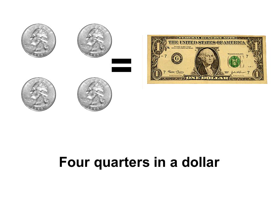 = Four quarters in a dollar