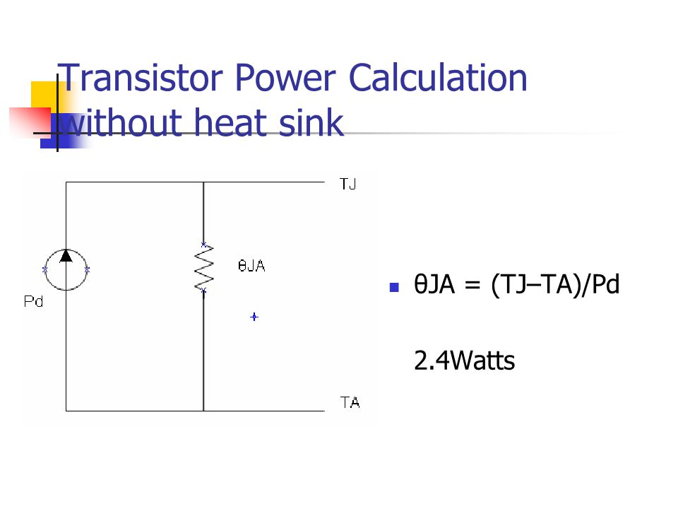 Transistor Power Calculation without heat sink