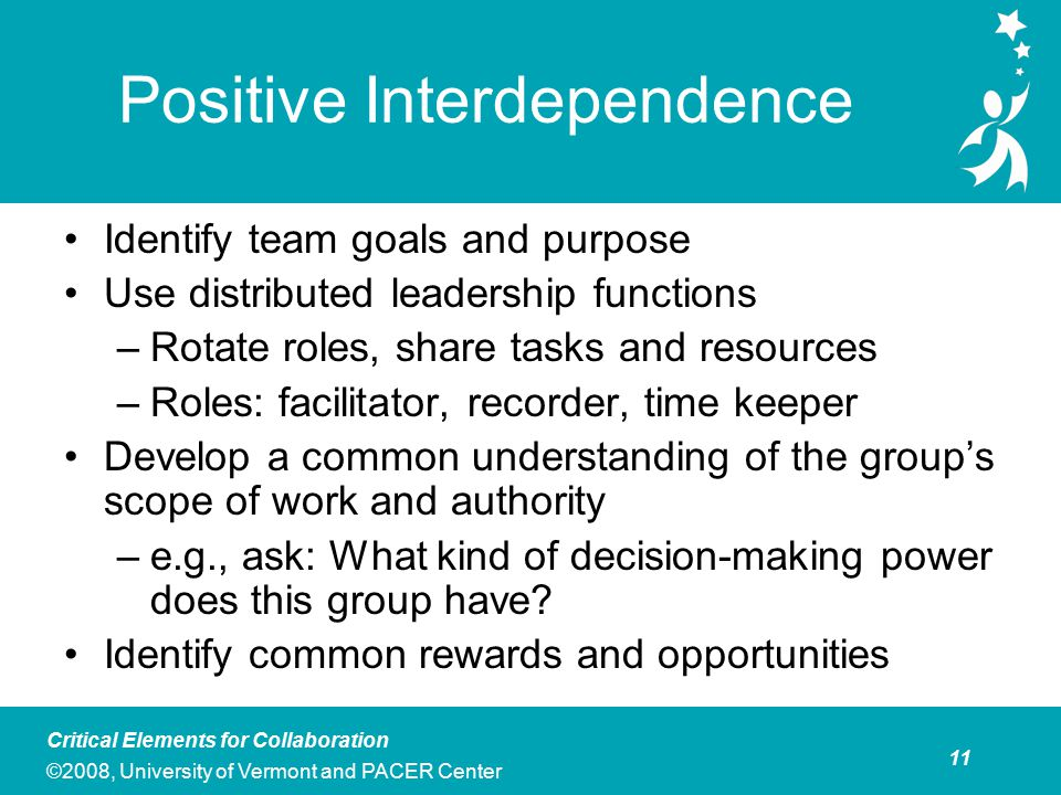 The development of interpersonal skills among team members is essential for effective collaboration. Each member of the group must commit to developing and using a set of interpersonal skills that promote effective collaboration. Teams can set the stage for the use of good interpersonal skills by establishing group norms that identify the behaviors and expectations that group members have for one another. In general, group norms should be established when new teams are formed, although teams may find that they need to re-visit and update their norms from time to time. Examples of norms commonly used on collaborative teams include: