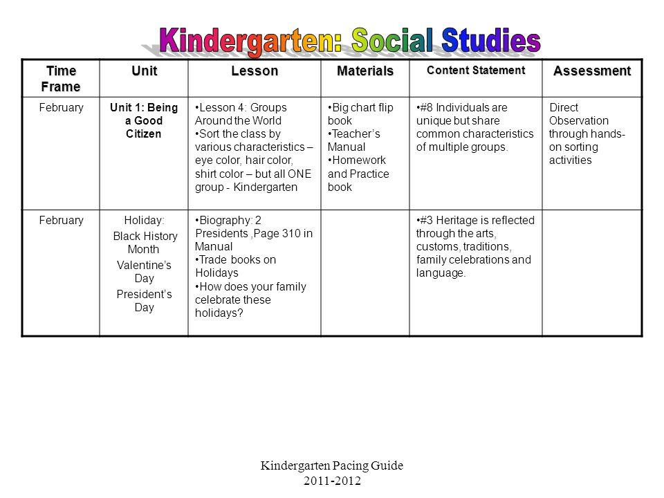 Kindergarten: Social Studies - ppt video online download
