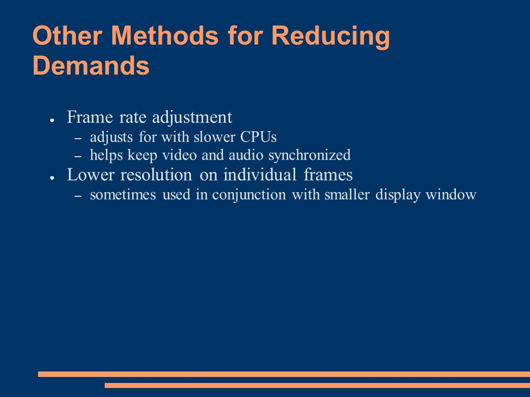 Other Methods for Reducing Demands