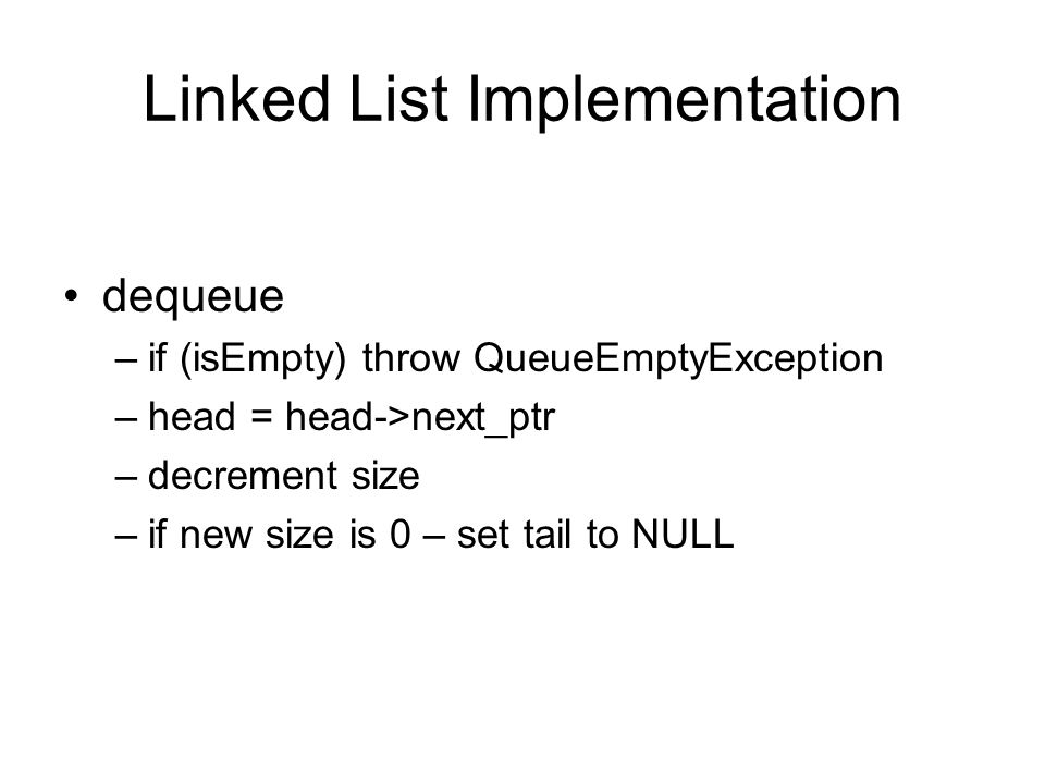 Linked List Implementation