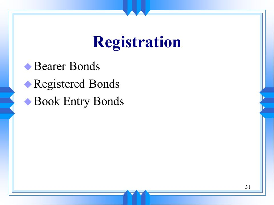 bearer bonds definition