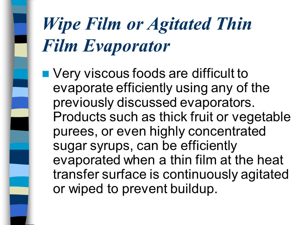 Wipe Film or Agitated Thin Film Evaporator
