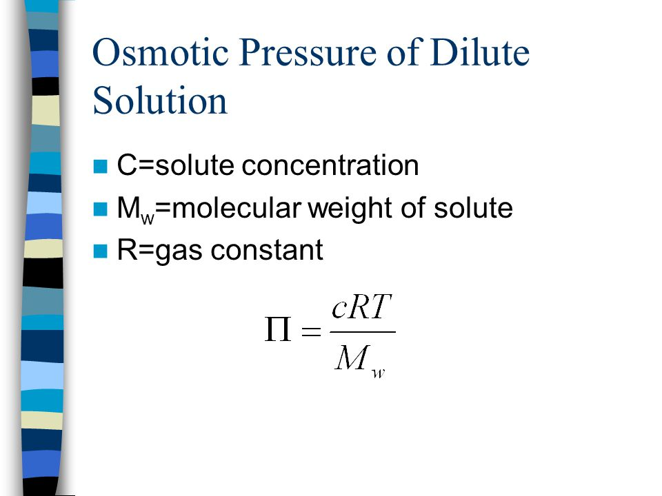 Osmotic Pressure of Dilute Solution