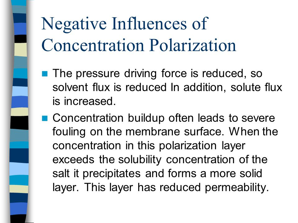 Negative Influences of Concentration Polarization