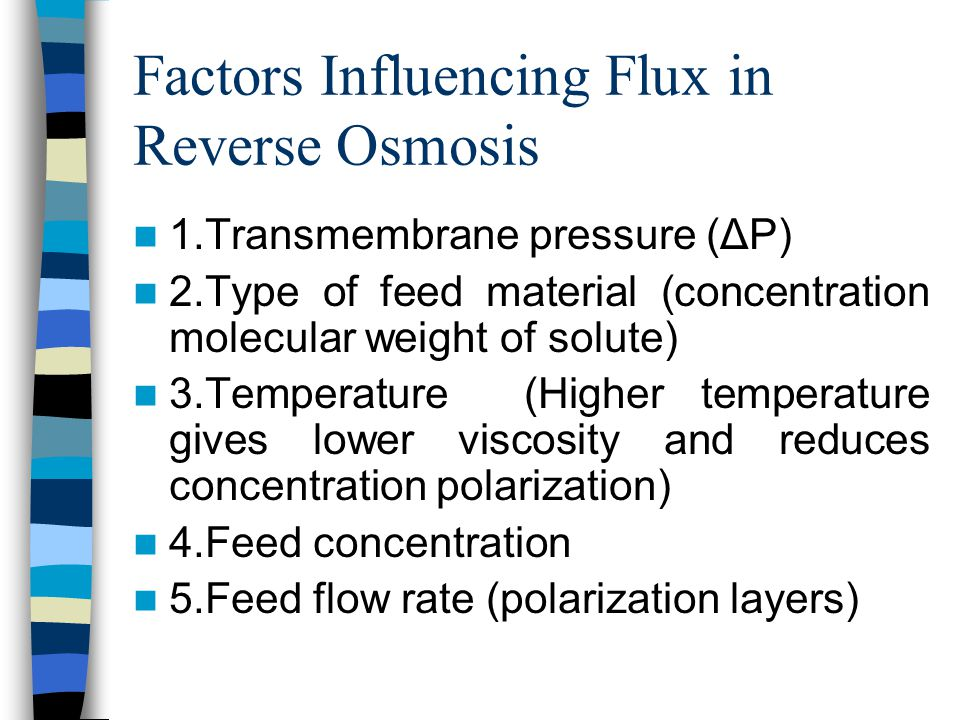 Factors Influencing Flux in Reverse Osmosis