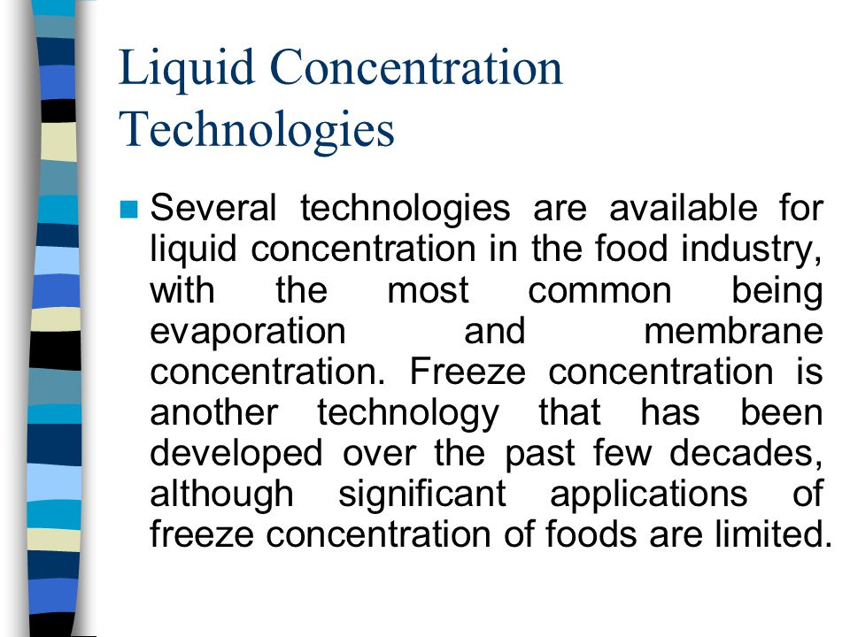 Liquid Concentration Technologies