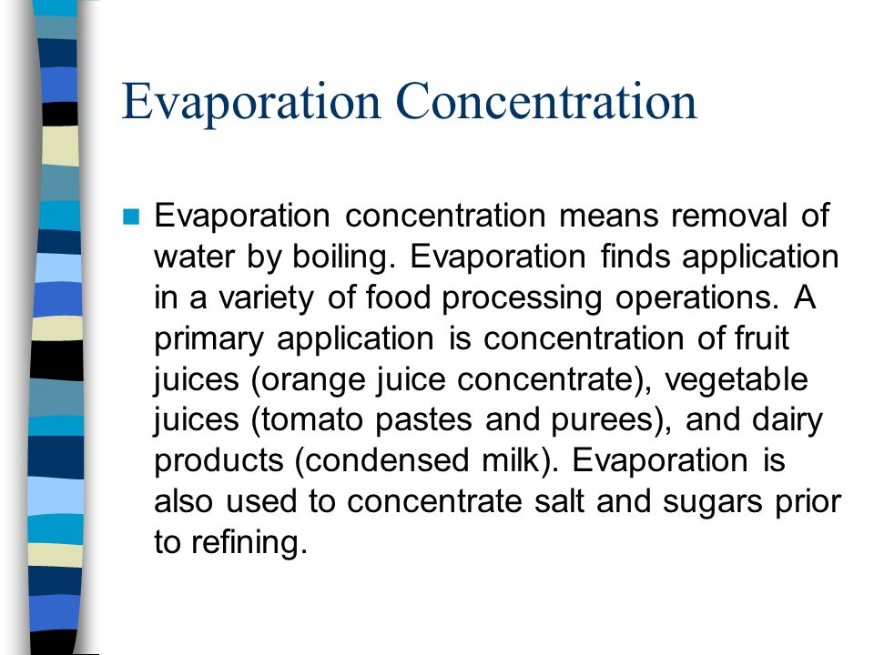 Evaporation Concentration