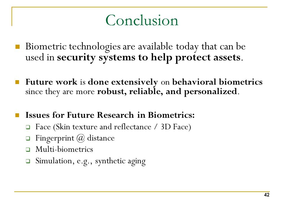 Biometrics: Overview, Challenges and Future Vision - ppt download