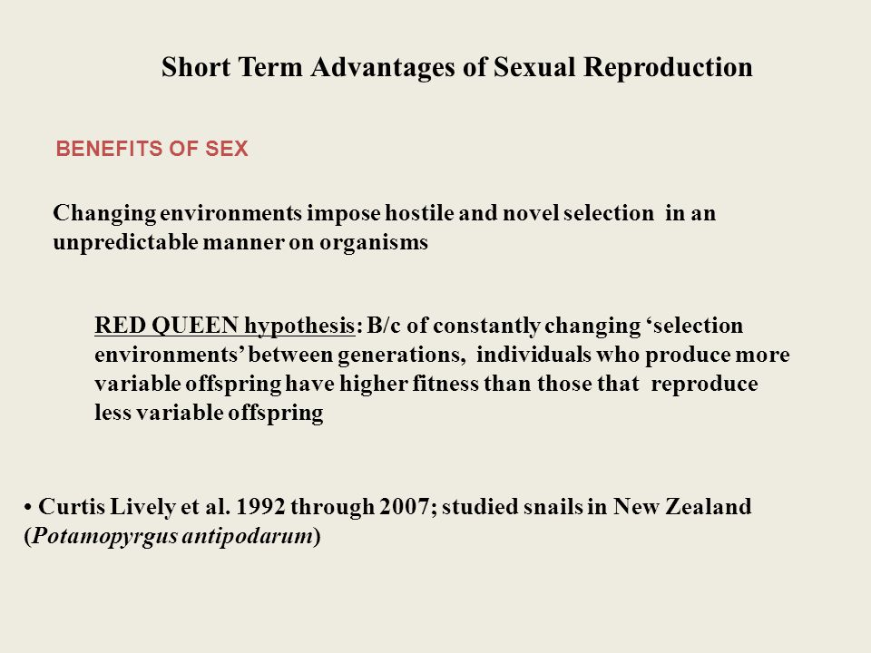 Benefits and drawbacks of sexual reproduction