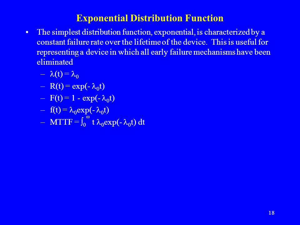 Exponential Distribution Function