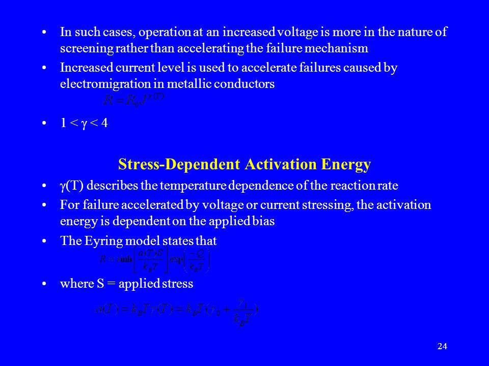 Stress-Dependent Activation Energy