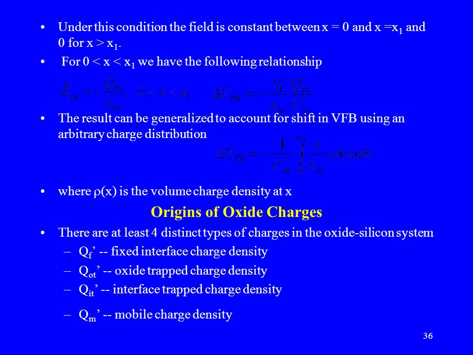Origins of Oxide Charges