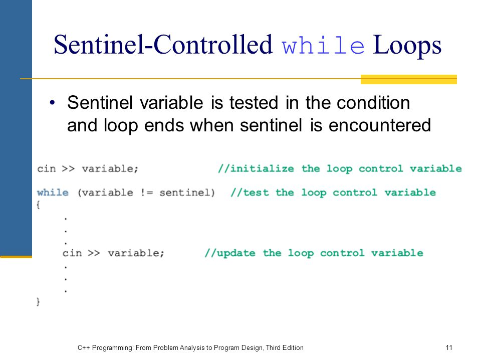 Sentinel-Controlled while Loops