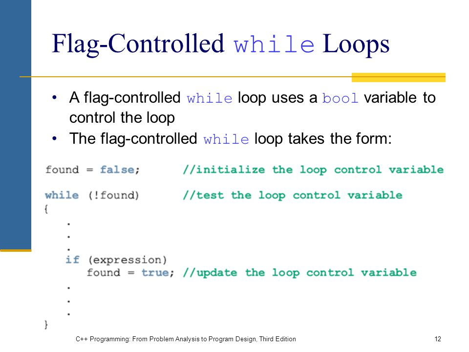 Flag-Controlled while Loops
