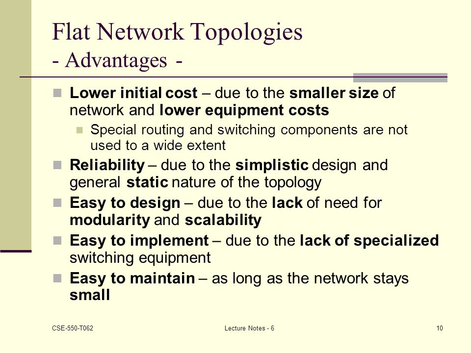 Flat Low Cost, Taking Advantage of The Network