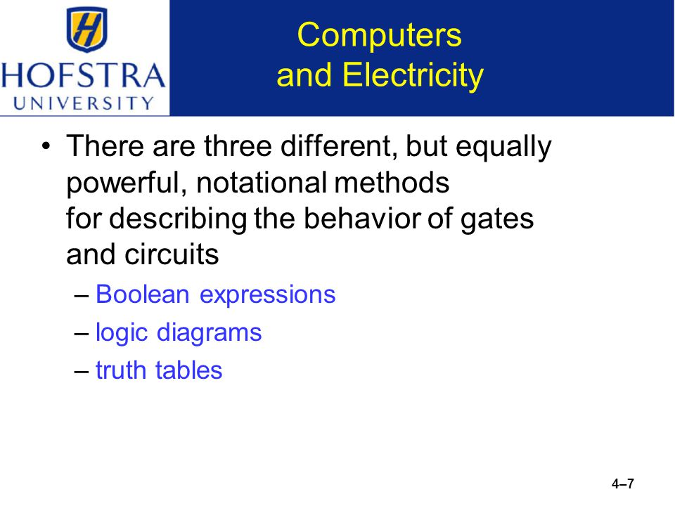 chapter 4 gates and circuits ppt download  7 computers and electricity