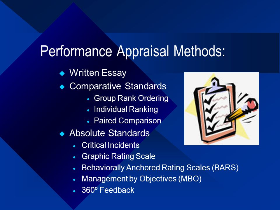 Help With Essay Papers  Performance Appraisal Methods Science Fiction Essay Topics also Short English Essays For Students Performance Appraisals  Ppt Video Online Download Persuasive Essay Papers