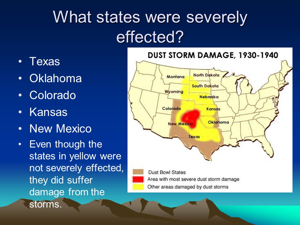 The Dust Bowl. - ppt video online download Dust Bowl States Map on