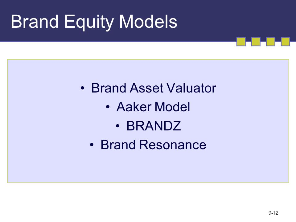 Brand Equity Models Brand Asset Valuator Aaker Model BRANDZ