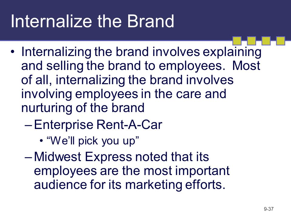 Internalize the Brand